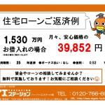 新潟市西区五十嵐中島の中古住宅の住宅ローン返済例