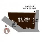 新潟市秋葉区古田の土地の敷地図