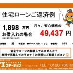 新潟市東区船江町の【中古住宅】の返済例
