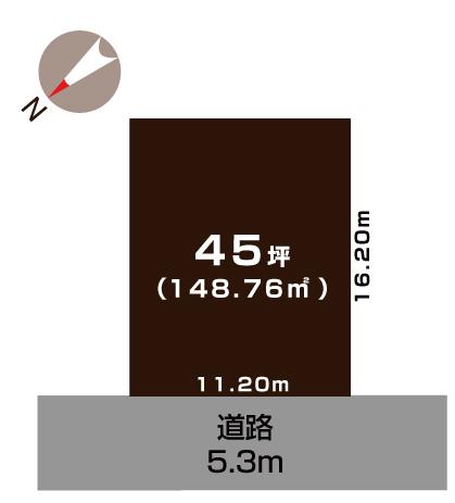 加茂市栄町の土地の敷地図