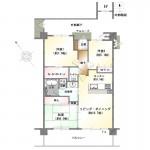 新潟市西区青山のマンションの間取図