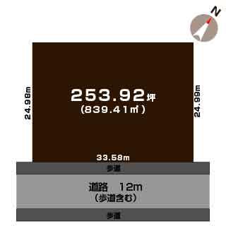 新発田市藤塚浜の【土地】不動産情報の敷地図