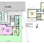 新潟市中央区神道寺の【新築住宅】不動産情報の間取図