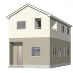 新潟市東区東中島の新築住宅2号棟の外観完成予定パース