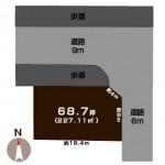 新潟市秋葉区美幸町の土地の敷地図