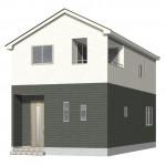新潟市東区東中島の新築住宅1号棟の外観完成予定パース