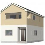 新潟市西区鳥原の新築住宅1号棟の外観完成予定パース
