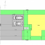 燕市吉田の土地の建物プラン例の配置図