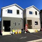 新潟市東区東中島の新築住宅の外観写真