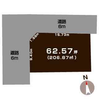 新潟市秋葉区川口の【土地】不動産情報の敷地図