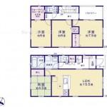 新潟市東区江南の新築住宅3号棟の間取図