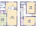 新潟市中央区山二ツの新築住宅の間取図