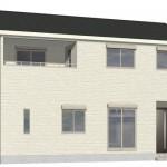 新発田市御幸町の新築住宅3号棟の外観完成予定パース