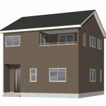 新潟市北区松浜新町の新築住宅2号棟の外観完成予定パース