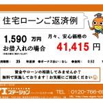 新潟市東区大形本町のマンションの住宅ローン返済例