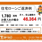 新発田市舟入町の新築住宅の住宅ローン返済例