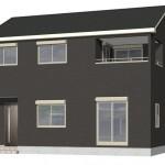 新発田市御幸町の新築住宅1号棟の外観完成予定パース