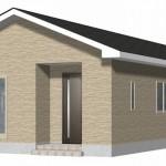 聖籠町次第浜の新築住宅(1号棟)の外観完成予定パース