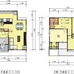 新潟市西区小針藤山の土地の建物プラン例の間取り図