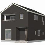 新潟市秋葉区新町の新築住宅2号棟の外観完成予定パース