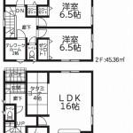 新発田市舟入町の新築住宅1号棟の間取図