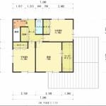 新潟市西区小針の建物プラン例の2階間取図