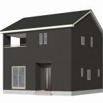 新発田市舟入町の新築住宅2号棟の外観完成予定パース