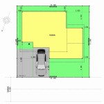 新潟市西区小針の建物プラン例の配置図