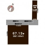 新潟市中央区長潟の土地の敷地図