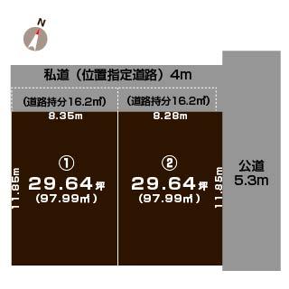 新潟市中央区女池北の土地の敷地図