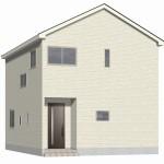 新潟市秋葉区新町の新築住宅1号棟の外観完成予定パース