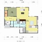 新潟市西区小針の建物プラン例の1階間取図