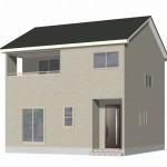 新発田市舟入町の新築住宅1号棟の外観完成予定パース