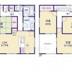 新潟市東区豊5号棟の新築住宅の間取図