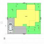 新潟市中央区長潟の土地の建物プラン例の配置図
