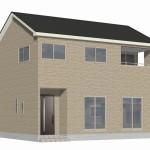 新潟市秋葉区新町の新築住宅3号棟の外観完成予定パース
