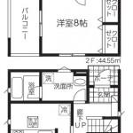 新潟市秋葉区新町の新築住宅1号棟の間取図