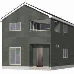 聖籠町次第浜の新築住宅(2号棟)の外観完成予定パース