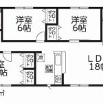 聖籠町次第浜の新築住宅(1号棟)の間取図