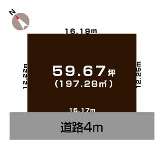 新潟市西区寺地の土地の敷地図