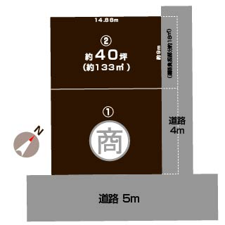 新潟市西区小針藤山の土地の敷地図