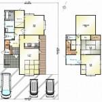 新潟市江南区五月町の中古住宅の間取り図