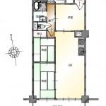新潟市中央区東堀通のマンションの間取り図