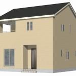 新潟市東区牡丹山の新築住宅2号棟の外観完成予定パース