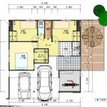 新潟市中央区新和の土地の建物プランの1階間取図