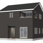 新潟市西蒲区川崎の新築住宅の外観パース