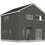 新潟市秋葉区荻島の新築住宅の2号棟外観完成予定パース