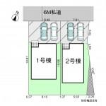 新潟市江南区五月町の【新築住宅《全2棟》】の区画図