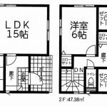 新潟市東区牡丹山の新築住宅3号棟の間取図