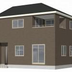 新潟市東区牡丹山の新築住宅1号棟の外観完成予定パース